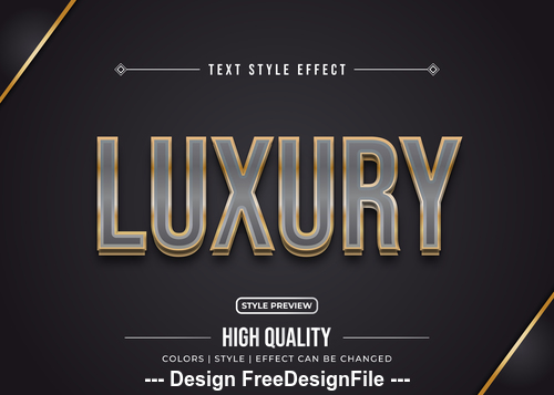 Luxury editable font effect text vector