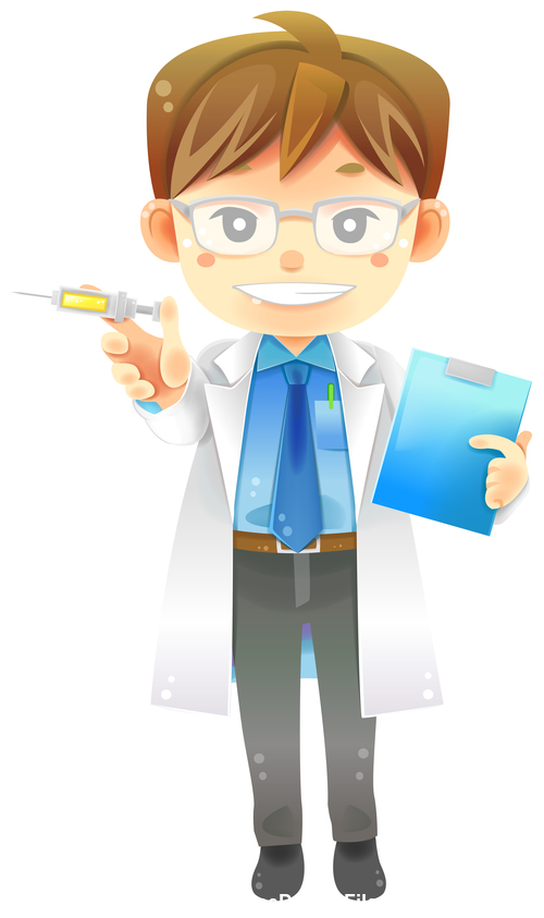 Male doctor cartoon vector