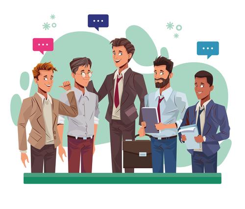 Male staff cartoon vector