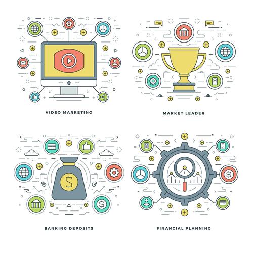 Market leader information template vector