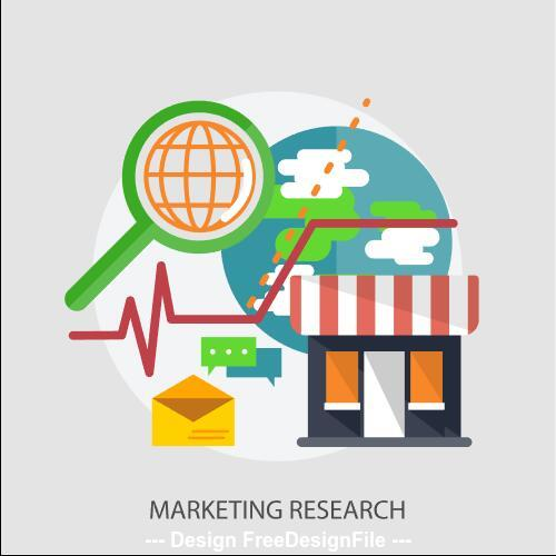 Marketing research elements vector