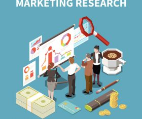 Marketing research illustration vector
