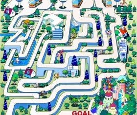 Maze bus vector