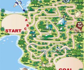 Maze coast vector
