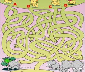 Maze lion vector