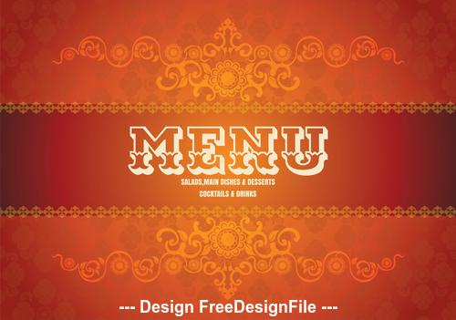 Menu food cover vector