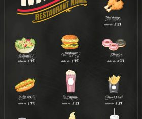 Menu retro vector icons