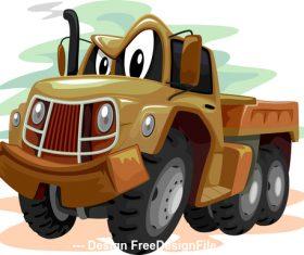 Military truck cartoon vector