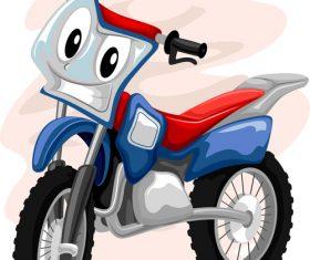 Motocross bike cartoon vector