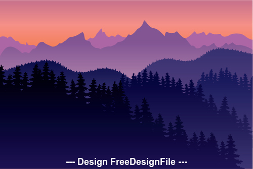 Mountains natural landscape vector