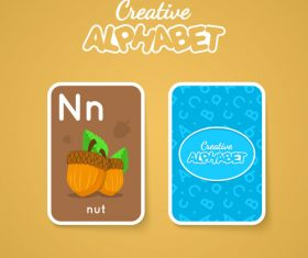 N letter word and picture vector