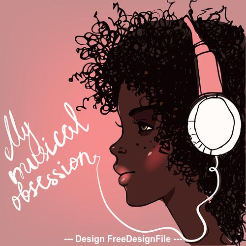 Negro music vector
