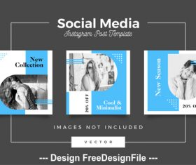 New series social media template vector