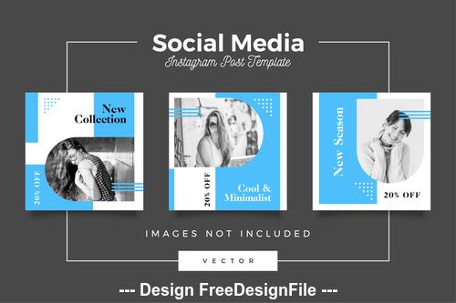 New series social media template vector