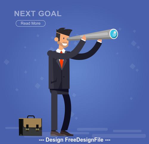 Next goal cartoon illustration vector