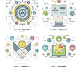 Online business information template vector