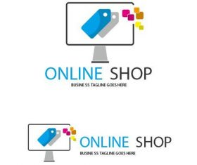 Online spot logo vector