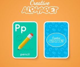 P letter word and picture vector