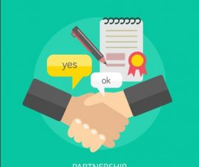 Partnership elements vector