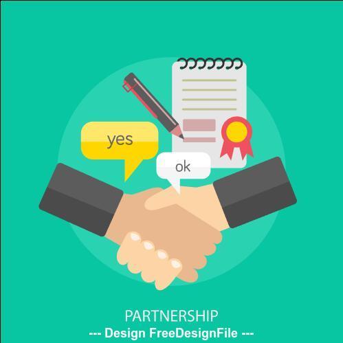 Partnership elements vector