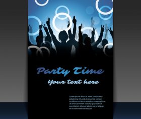 Party flyer sample text design template vector