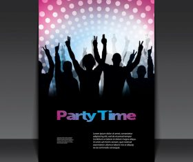 Party time flyer design template vector