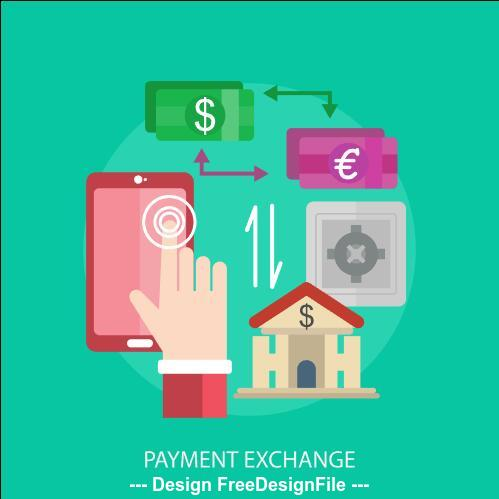 Payment exchange elements vector