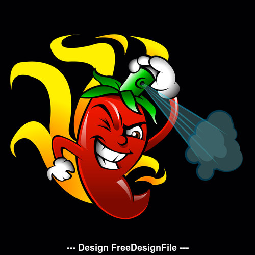 Pepper logo vector