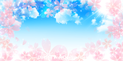 Petals and blue sky vector