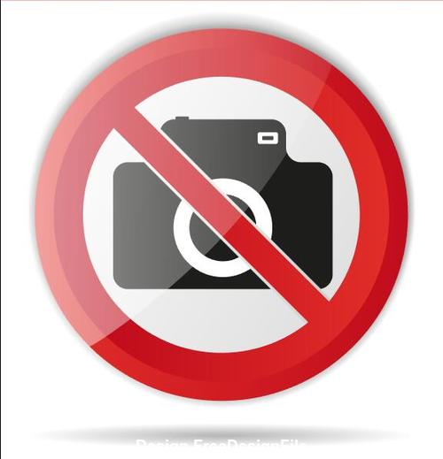 Photo prohibition sign vector