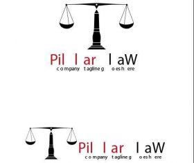 Pillar law logo vector