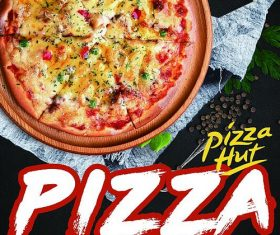 Pizza delicious psd flyer template