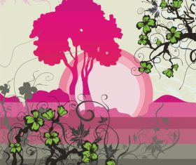 Plant nature background vector