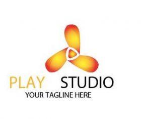 Play studio logo vector