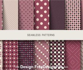 Polka dot seamless pattern vector in various colors background
