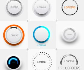 Pre loading button design element vector