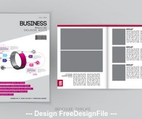 Product brochure template vector