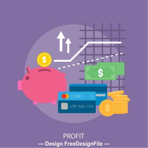 Profit elements vector