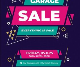 Promo Garage Sale Flyer PSD Template