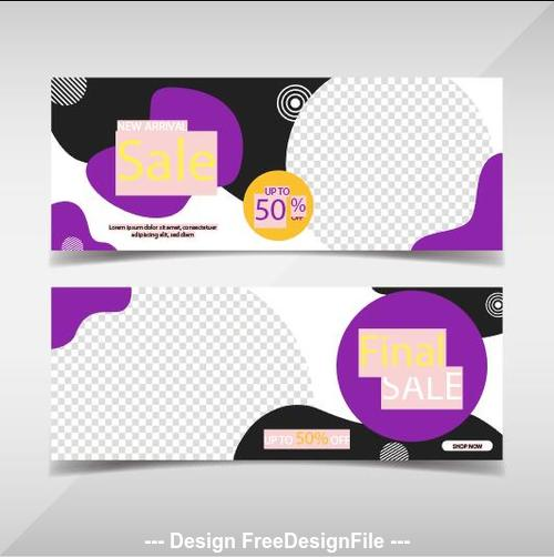 Promotion banners template vector