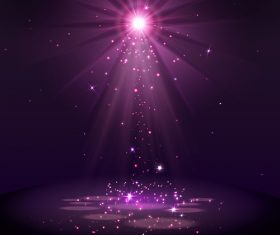 Purple light effect vector