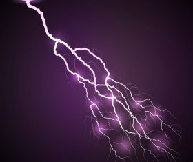 Purple lightning vector