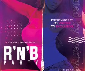 RNB Bash Party Flyer PSD Template