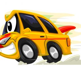 Racing car cartoon vector