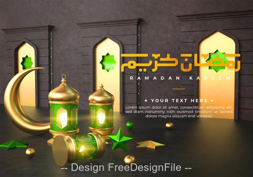 Ramadan Kareem styles psd background