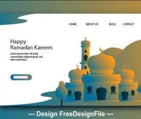 Ramadan kareem landing page vector