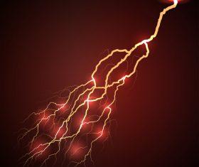 Red lightning vector