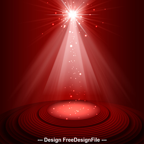 Red spotlight on stage vector
