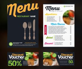 Restaurant discount voucher vector