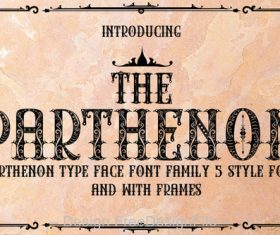 Retro Parthenon Fonts